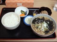 納豆ごはんセット/そば 450円