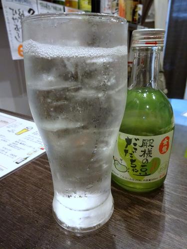 20181027蕎麦Bar HATARI@清澄白河 (12)だだ茶豆酒のソーダ割り.JPG