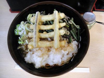 じょうなん亭@五反田(10)冷し山菜おろしそば470ごぼう天130.JPG