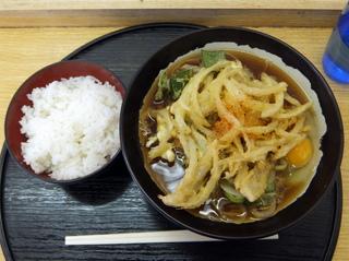 ランチハウス@新馬場(4)野菜かきあげ天そば340玉子40半ライス100.JPG