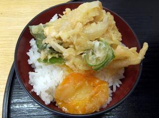 ランチハウス@新馬場(6)野菜かきあげ天そば340玉子40半ライス100.JPG