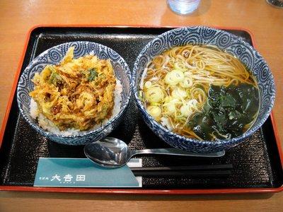 大吉田@虎ノ門(5)かき揚げ丼(小)温そば550円.JPG