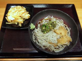 嵯峨谷@渋谷(4)山形だしおろしそば冷太麺380かきあげ100.JPG