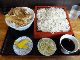 蕎麦政@南花畑(3)天丼セット660.JPG