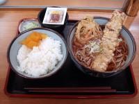 天ぷらそば+納豆ご飯 380+150円