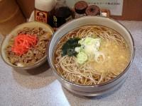 牛丼セット+そば大盛り 500+150円