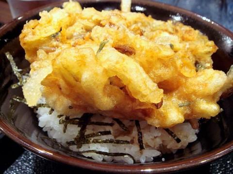 掻揚丼(セットのミニ丼)