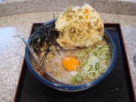 納豆そば+天ぷら 390+70円