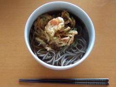 創味つゆ+東京かじの「蕎麦湯のとれる十割そば」+えびかき揚げ天
