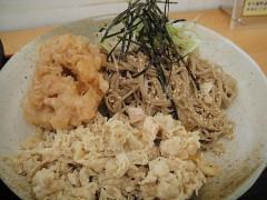 Akio製麺所@白金台 冷やしつけ肉そば+げそ天 750+100 (5).JPG