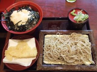 いわもとQ@赤坂 とろろ丼セットもり+いか天 680+100円 (4).JPG