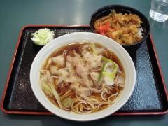 小諸そば@五反田 香味豚そばかき揚げ丼セット 690円 (2).JPG