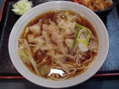 小諸そば@五反田 香味豚そばかき揚げ丼セット 690円 (3).JPG