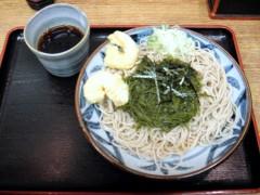 政吉そば@四谷 冷し磯とろろ+小海老天二個 400+80円 (3).JPG