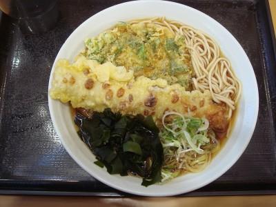 富士そば 田町 春菊天そば+ちくわ天-1.JPG