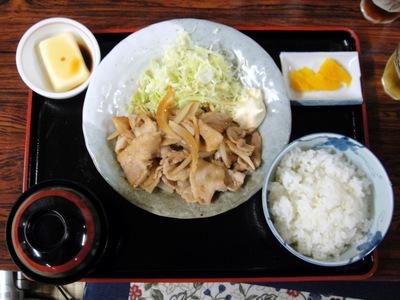 20110504 食事処いずみ@甲斐大泉パノラマの湯 (6) 生姜焼き定食800.jpg