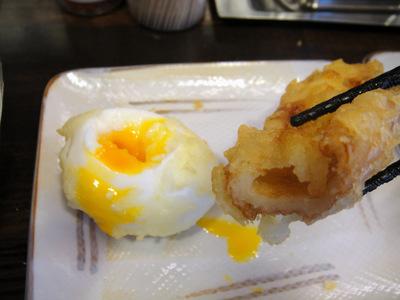 20120604おにやんま@青物横丁(10)半熟卵天80ちくわ天100.JPG