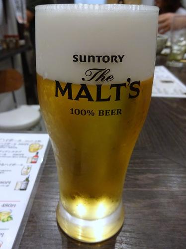 20181027蕎麦Bar HATARI@清澄白河 (2)生ビール.JPG