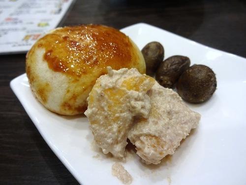 20181027蕎麦Bar HATARI@清澄白河 (4)柿の白和えむかごバター焼まんじゅう手土産.JPG