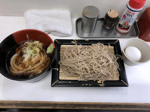 20201129そばっ子@金町 (7)かき揚げ天ぷらつけそば350ゆで玉子50.jpg