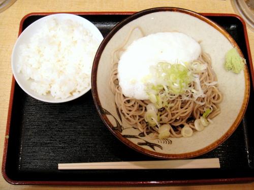 そばよし@三越前 冷しとろろそば+半ライス 390+70円 (4).JPG