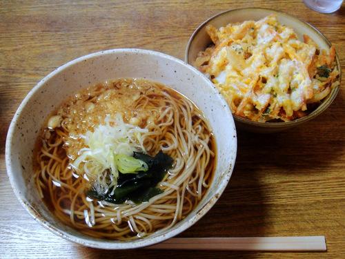 甲斐そば@大森海岸 カツ丼セット 温 500円 (3).JPG