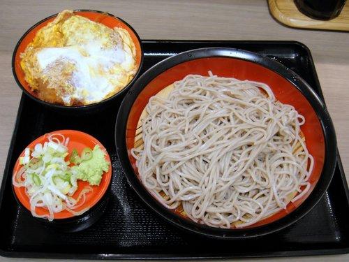 富士そば@大井町東口 (6) ミニヒレカツ丼セット もり 500円.JPG