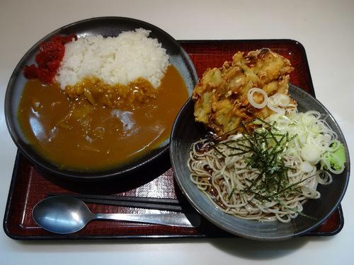 あずみ大崎店@大崎 (3)カレーセット冷やしそば770野菜かき揚130.JPG
