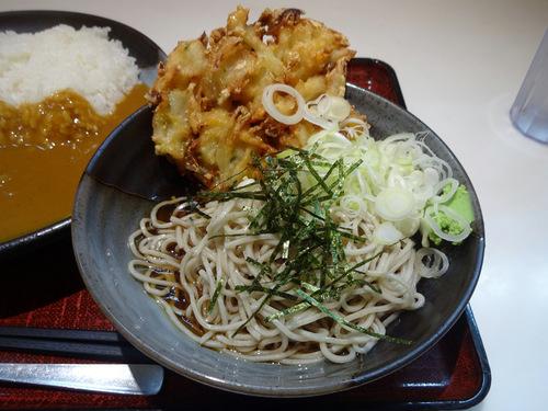 あずみ大崎店@大崎 (4)カレーセット冷やしそば770野菜かき揚130.JPG