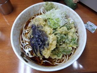 うさぎや@新橋(3)冷かけそば300春菊110なす110.JPG