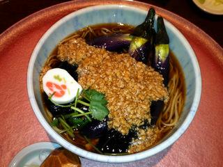 うちくら@YRP野比(6)秋茄子肉蕎麦温1050.JPG