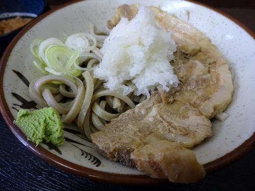 うちば@品川シーサイド (12)冷やし肉そばおろしトッピング有740そばがきコロッケ100.JPG