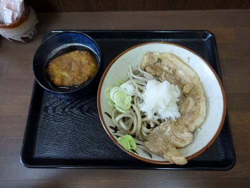 うちば@品川シーサイド (7)冷やし肉そばおろしトッピング有740そばがきコロッケ100.JPG
