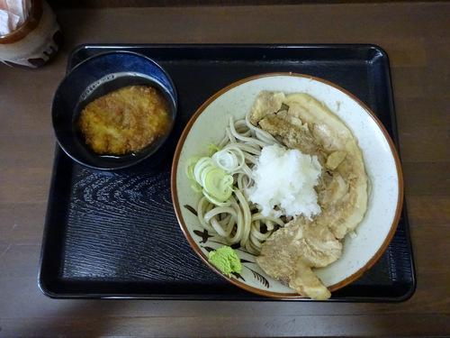 うちば@品川シーサイド (8)冷やし肉そばおろしトッピング有740そばがきコロッケ100.JPG