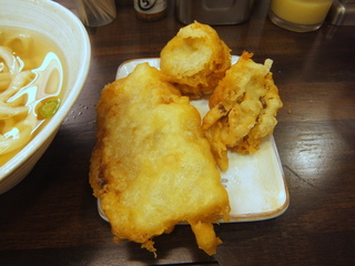 おにやんま@青物横丁(4)冷やかけ並290ホタテの天ぷら200バナナとひき肉の天ぷら150.JPG