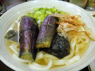 おにやんま@青物横丁(5)ナス冷や並450つぶ天150野菜スティック100.JPG