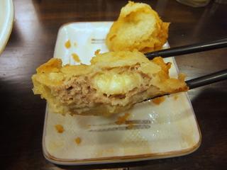 おにやんま@青物横丁(5)冷やかけ並290ホタテの天ぷら200バナナとひき肉の天ぷら150.JPG