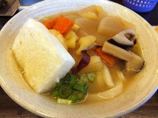 おにやんま@青物横丁(5)雑煮うどん並550京人参の天ぷら150大根の天プラ100.JPG