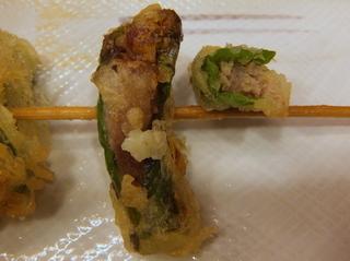 おにやんま@青物横丁(8)海鮮五目あんかけうどん並580ししとうの肉詰め天ぷら200かき揚げ150.JPG