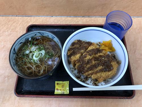 かしわや武蔵新城店@武蔵新城 (3)ソースカツ丼ミニそばセット700.jpg
