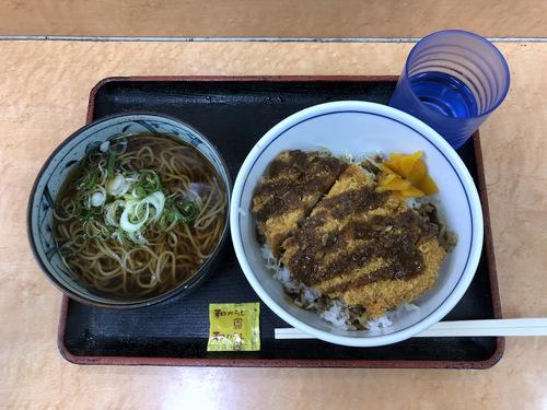 かしわや武蔵新城店@武蔵新城 (4)ソースカツ丼ミニそばセット700.jpg