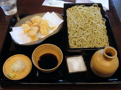 かんだやぶそば@淡路町(8)せいろそば700かきの天ぷら900.JPG