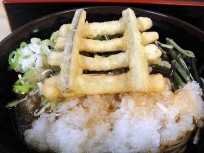 じょうなん亭@五反田(11)冷し山菜おろしそば470ごぼう天130.JPG
