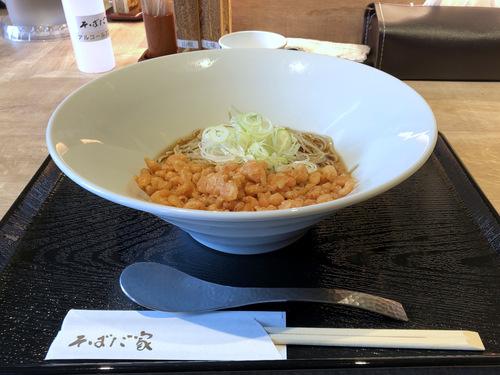 そばだ家@渋谷 (9)桜えび揚げ玉ぶっかけ十割蕎麦(冷)650.jpg
