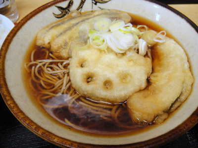 そばよし@三越前(7)野菜天そば410小ライス70.JPG