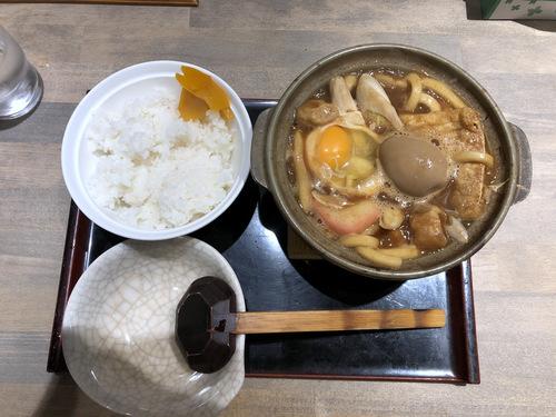 でら打ち@大森 (11)味噌煮込みうどん柔らかい麺890半熟煮玉子210半ライス150.jpg