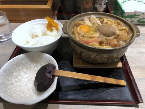 でら打ち@大森 (13)味噌煮込みうどん柔らかい麺890半熟煮玉子210半ライス150.jpg