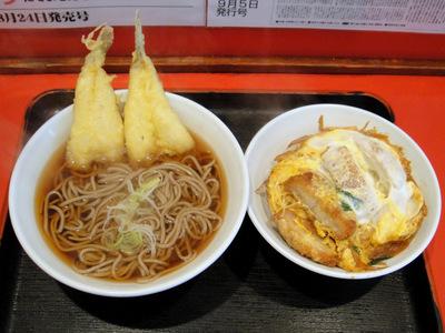 よもだそば@東京 (4) ハゼ天そば370カツ丼380-1.JPG