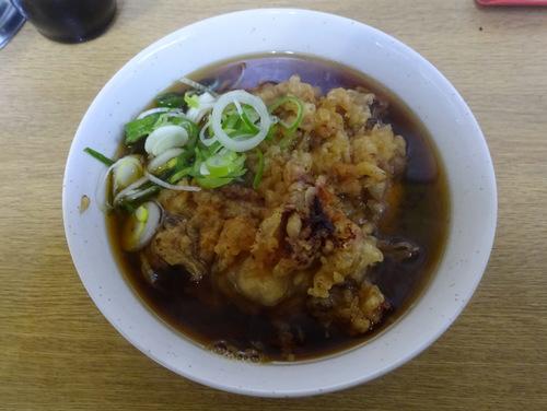 一由そば@日暮里 (11)中華麺inそばつゆ240ジャンボゲソ天140.JPG