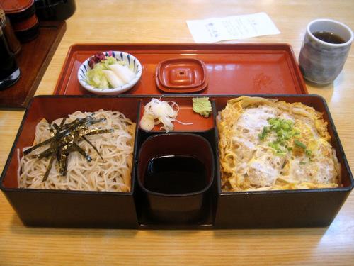 丸福@不動前 (3) B(カツ丼とざる)セット 1050円.JPG